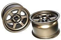 Traklite Launch Wheels Drag Racing 4x100 +20 13x8 Bronze For Honda/acura/miata