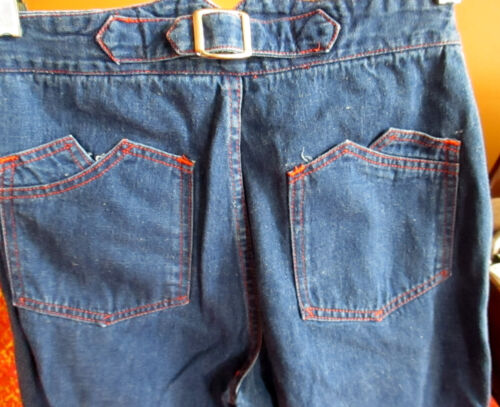 7/8 24x31 Vtg 70's Womens BUCKLEBACK HIGH WAIST DI
