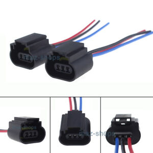 2Pcs H13 9008 H13LL Socket Adapter Wiring Harness Pigtail ... H Wiring Harness on h13 hid wiring, h13 plug harness, hid kit headlight harness,