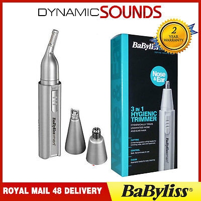BaByliss 7051BU Trimmer Kit For Nose Ear Hairs Eyebrows Sideburns And Moustache