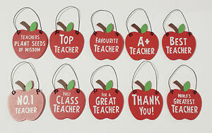Wood-Best-Teacher-Teaching-Assistant-Apple-Signs-Gifts-Gift-Thank-you-Tag-TA-LSA