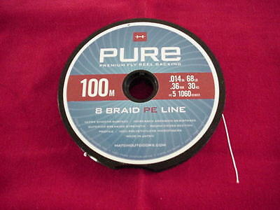 Color Orange Hatch 200 Meter Premium Braided Fly Line Backing New