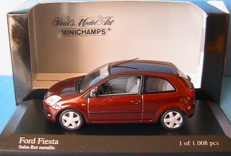 FORD FIESTA SALSA rouge METALLIC 2002 MINICHAMPS 400081121 1 43 DREI TURING rouge