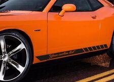 "2x 78"" CUSTOM TEXT Side Body Stripes Racing Rally JDM Car Vinyl Sticker Decal"