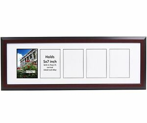 Creativepf 5 Opening Multi 5x7 Mahogany Picture Frame W 10x32 White