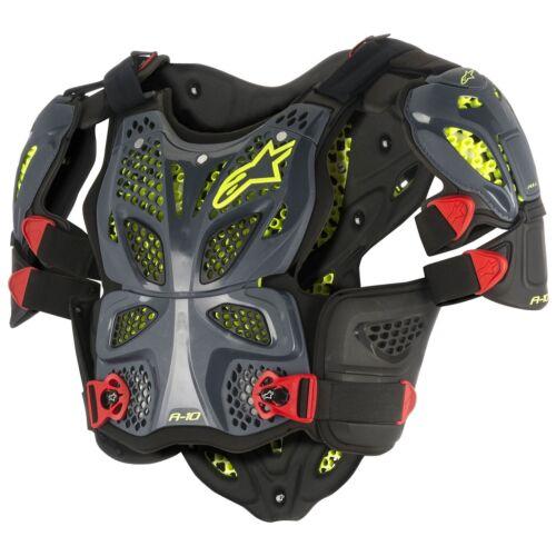 Alpinestars Motocross / Bike A-10 Full Chest Protector Anthracite / Black / Red