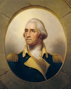 photograph about Printable Pictures of George Washington named Information and facts in excess of GEORGE WASHINGTON PORTRAIT Through REMBRANDT PEALE 8x10 SILVER HALIDE Image PRINT