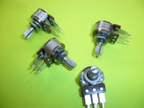 Stereo Dreh-Potentiometer  20 K Ohm  A  mit 6 mm Riffelachse