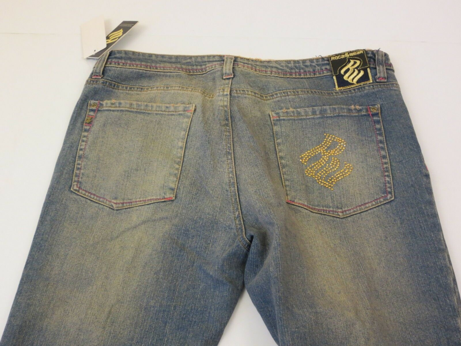 Rocawear Bling Out Button Fly bluee Jeans Size 16 Style  RF53-WP74D