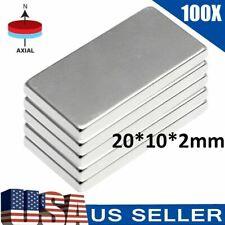 100pcs N52 Neodymium Block Magnet 20x10x2mm Super Strong Rare Earth Magnets Lot