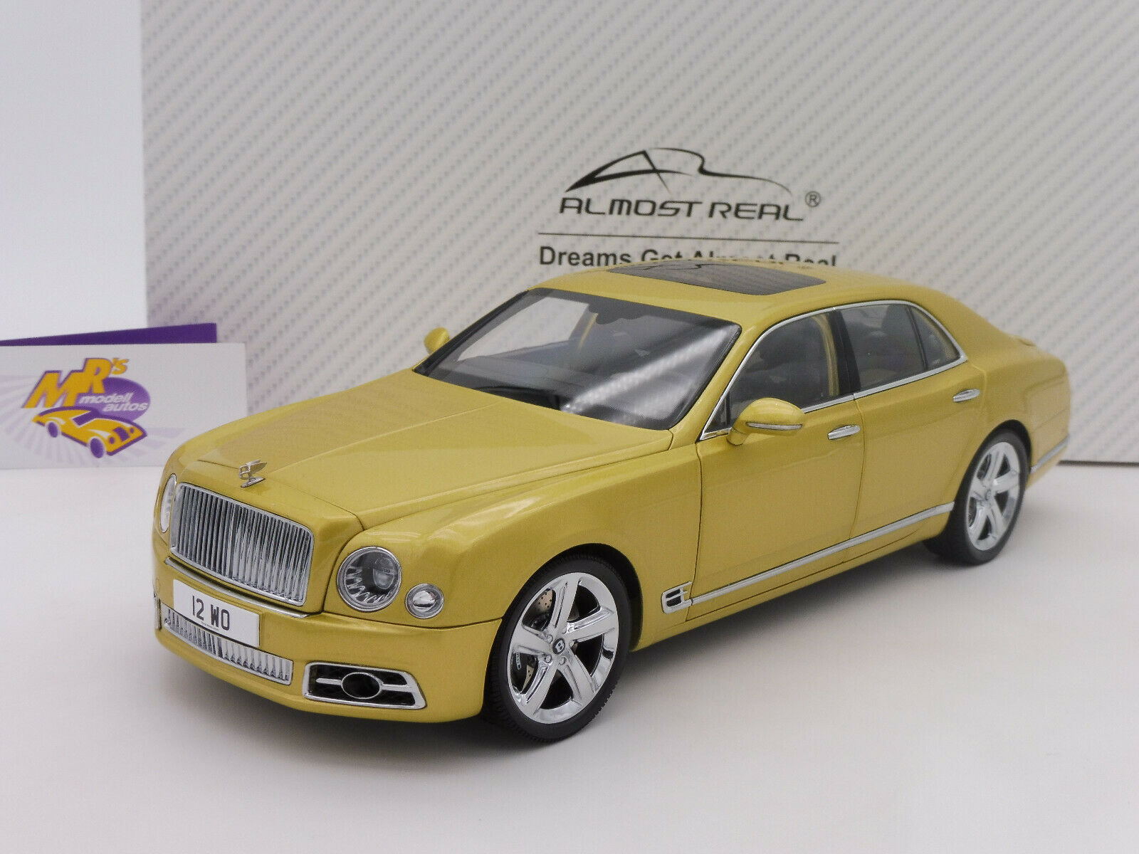 Almost Real 830101   Bentley Mulsanne Speed Limousine Bj. 2017 monacogelb 1 18