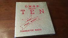 O.M.G.S  VINTAGE Ten  TRANSISTOR RADIO BOX 1964