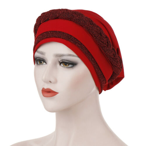 Les femmes perte de cheveux musulman tresse tête hijab Turban Wrap Cover Cancer Chimio Chapeau
