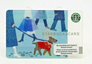 Starbucks Coffee 2009 Gift Card Winter Dog Walking Boots Zero Balance No Value
