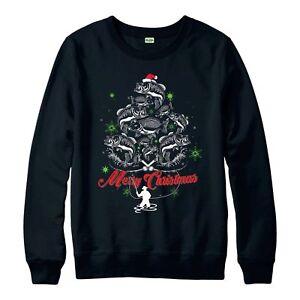 Peche-Christmas-Jumper-peche-de-Noel-Wear-Cadeau-Festif-Adultes-amp-Enfants-Neuf