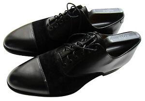 Formal Cuero Hombre Negro Ante Excelencia Zapatos Smith En Paul qzgwaFx