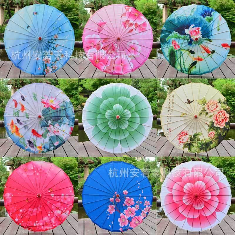 Chinese Japanese Umbrella Wedding Dance Party Art Deco Painted Parasol Dec