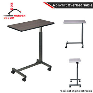 Hospital Over Bed Table Non Tilt Helper Swivel Casters Raised Overbed Tabletop 681131352284 Ebay