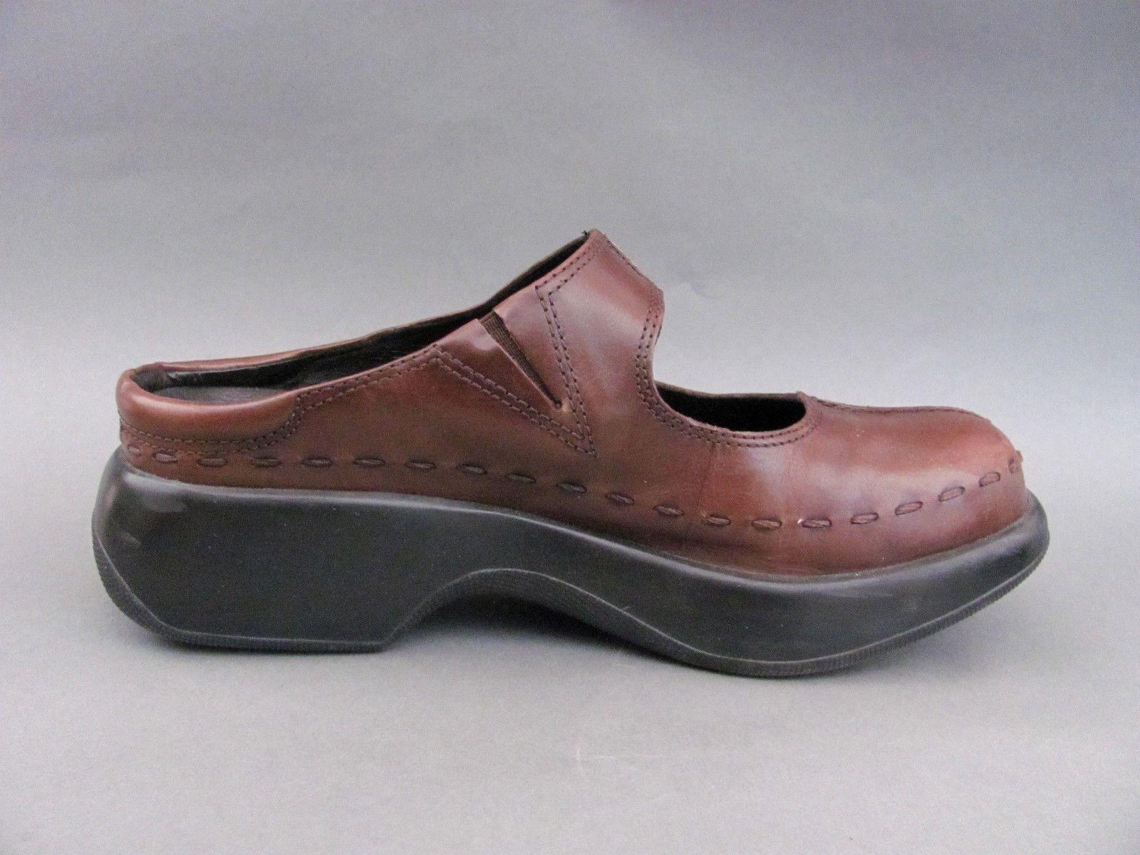 DANSKO Brown Leather Mary Jane Clogs Slip 9, On US 9, Slip EU 40 22f6ee