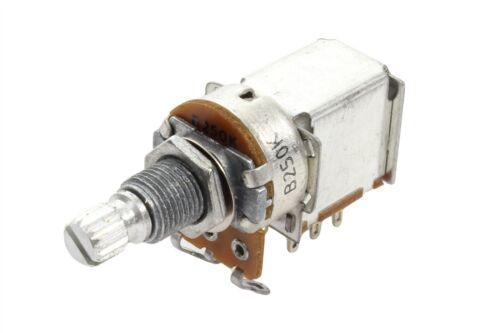 Push Pull B250K DPDT Coarse Spline Split Shaft Linear Pot Potentiometer