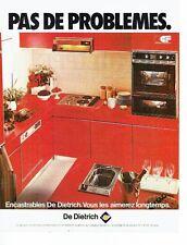 Publicité Advertising 057  1978  les encastrables De Dietrich   éléctroménager