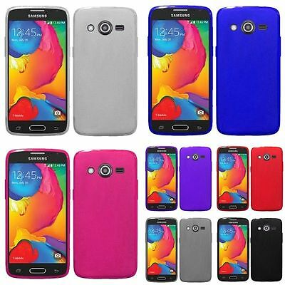For Samsung Galaxy Avant SM-G386T Frosted TPU Cover Case Soft Gel Rubber Skin