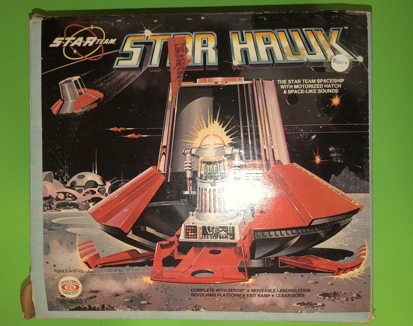 1970 Ideal Space Toy Star Team STAR HAWK SPACESHIP UFO with Zeroid Robot In Box