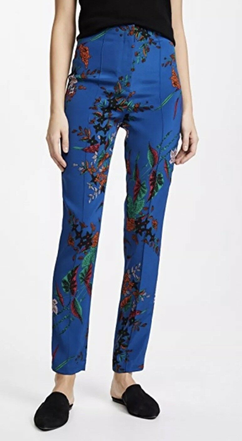 NEW  Diane Von Furstenberg High Waisted Skinny Pants Size 8 Camden Cove bluee