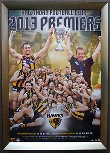 Hawthorn-2013-Premiers-AFL-Official-Premiership-Poster-Framed-LEWIS-RIOLI-HODGE
