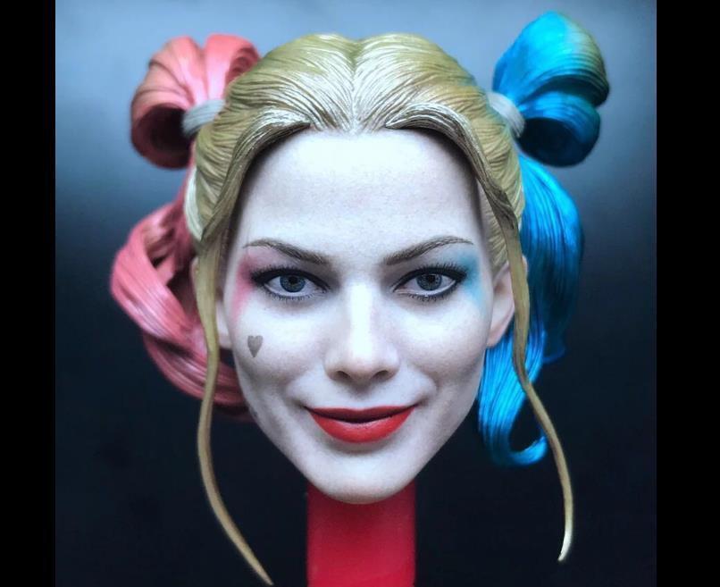 1 6 Harley Quinn Head Sculpt 2.0 Suicide Squad For Hot Toys Figure Prison Ver.