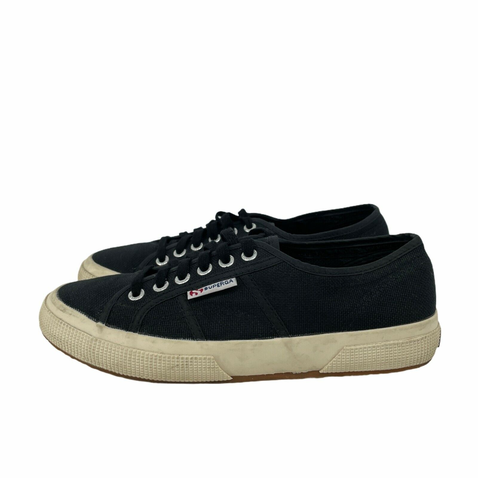 Superga Women's Cotu Classic Lace-up Sneakers Navy Blue Sz 8 100% Canvas Fabric