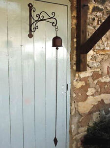 Image Is Loading Antique French Vintage Style Hanging Door Bell With