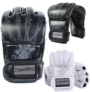 MMA-UFC-Sparring-Grappling-Boxing-Fight-Punch-Ultimate-Mitts-Leather-Gloves