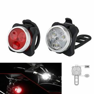 USB-Rechargeable-LED-Bike-Lights-Set-Headlight-Taillight-Caution-Bicycle-Lights