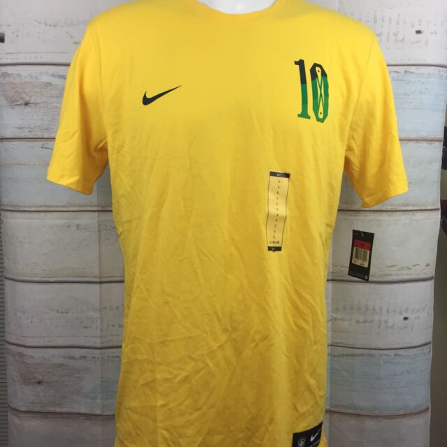 0f801fff3 Nike Neymar MENS SZ L Brazil Soccer Football T-Shirt NWT 838155 703 WORLD  CUP