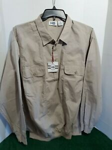 HB-Mens-2XL-Jacket-Pull-Over-Jacket-Long-Sleeve-Collar-Casual-Outdoor