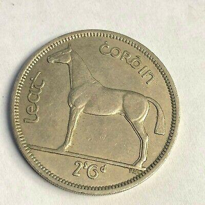 "vintage Irish Hunter Horse /& Celtic Harp Coin 1964 IRELAND 1//2 CROWN /""Coroin/"""