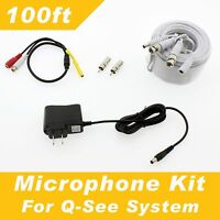 100ft Q-see Surveillance Security System Microphone Kit - All Of Qsee Systems