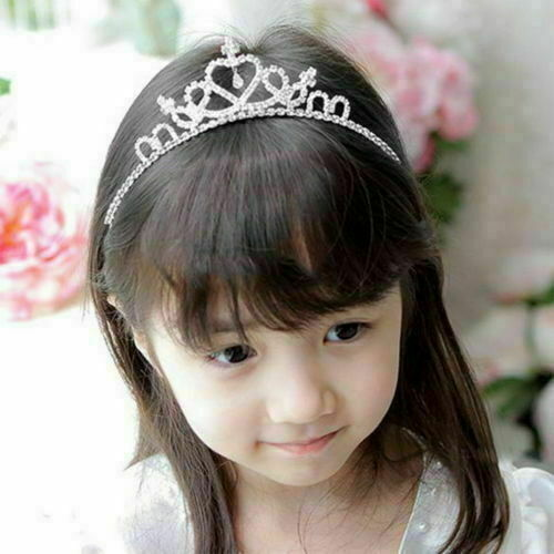 Enfants Filles Enfant Mariage Bal Cristal Strass Tiara Princesse Couronne Bandeau