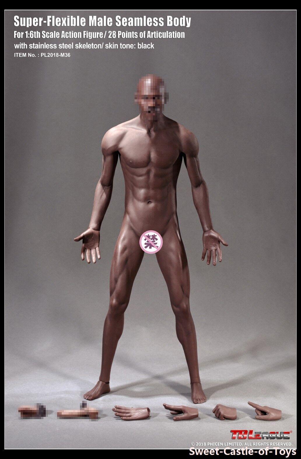 Bis 6 phicen superflexible stahl männliche muskulöse nahtlose körper m36 b über.tbleague