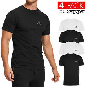 4 Pack T-shirt Uomo KAPPA Maglietta Slim Fit Cotone Maglia Intima Mezza Manica