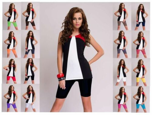 16 verschiedene Farben 2 Stück DeDavide Damen Radlerhosen aus Baumwolle