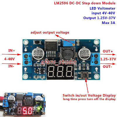 DC-DC Buck Step Down Converter 3A 4-40v 6v 9v 12v 24v to 5v Power Supply Module