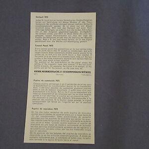 875D-Marklin-7072-H0-Notice-2-Pages-Pupitre-de-Commande