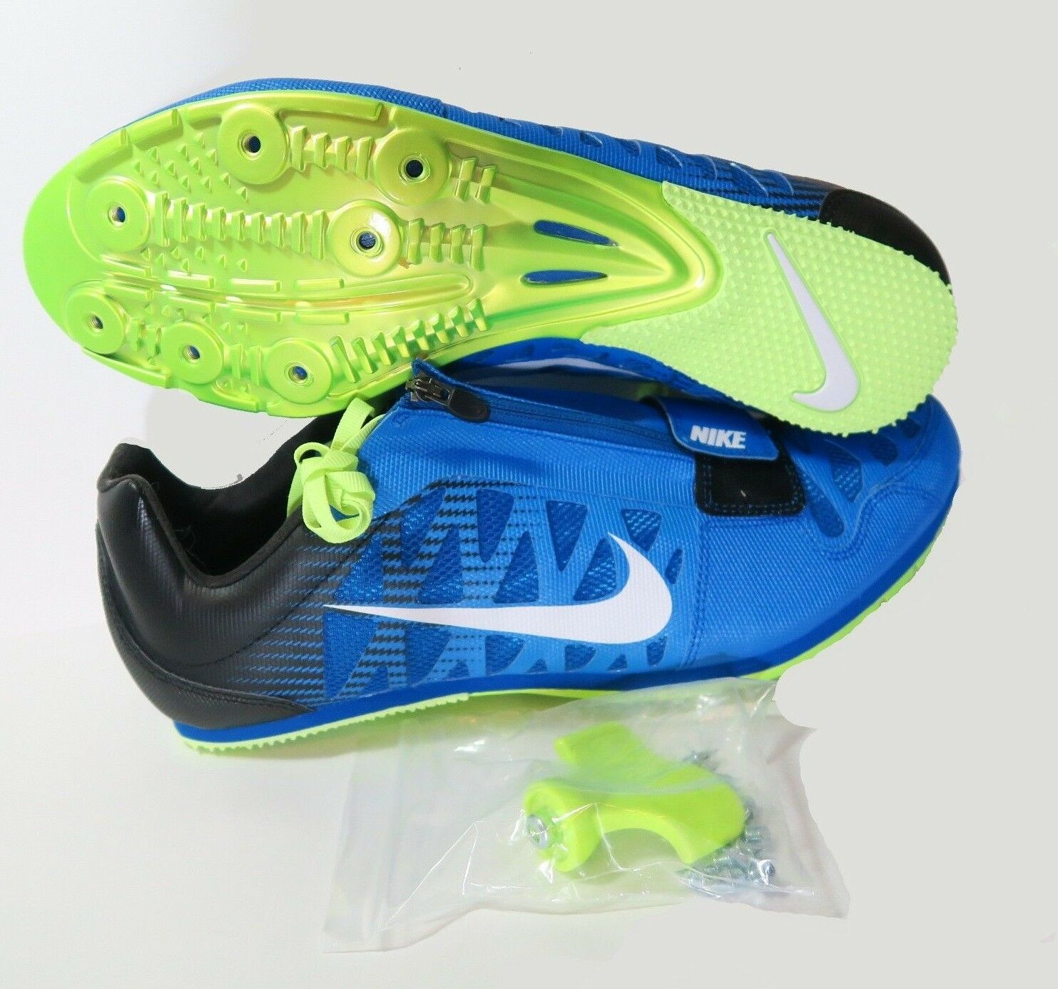 new style 4d0f1 342bd New Mens Nike Zoom LJ 4 Long Jump IV Spikes Spikes Spikes Shoes 12.5 Blue  White 415339-413 e34954