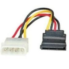 Adapter Kabel 4pin Molex Stecker auf 15pin Buchse SATA S-ATA 15cm 1:1