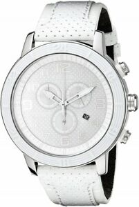 CITIZEN AT2200-04A Eco-Drive Unisex Solar Watch Leather Band White RRP $599.00