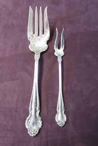 McGlashan Clarke MCG9 Silver Plated 7-34 Solid Cold Meat Serving Fork