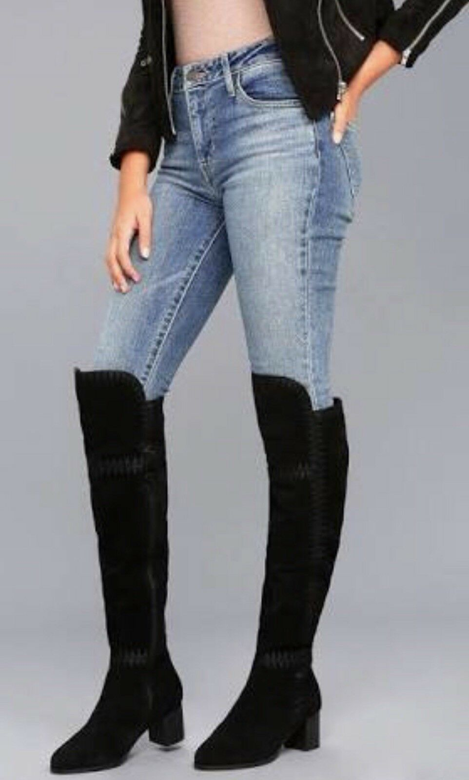 New In Box Matisse Moon Boots - Black - Over The Knee - Size 8.5