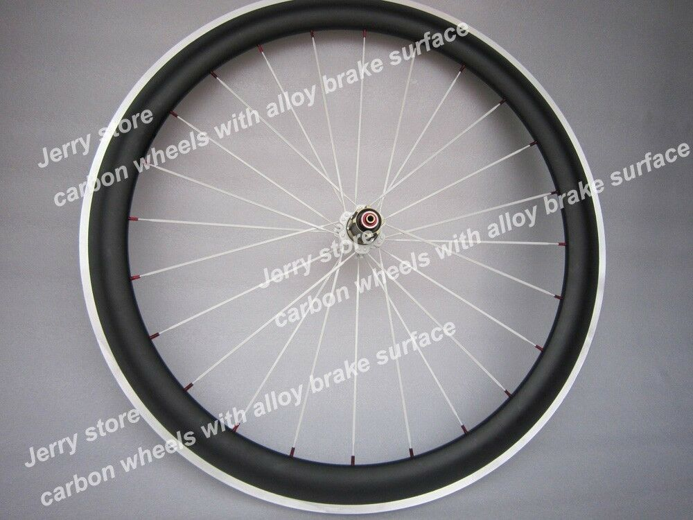 700C full carbon wheels aluminum brake surface 50mm deep  only rear  23mm width  simple and generous design